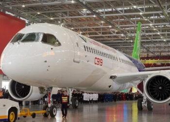 Salah satu pesawat komersil milik maskapai China. /ist