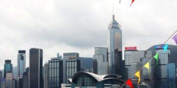 Foto yang diabadikan pada 31 Juli 2021 ini menunjukkan Hong Kong Convention and Exhibition Center di Hong Kong, China selatan. (Xinhua/Wu Xiaochu)