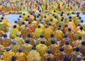 Foto yang diabadikan pada 26 Oktober 2021 ini menunjukkan Biara Tashilhunpo di Kota Xigaze, Daerah Otonom Tibet, China barat daya, tempat Panchen Lama ke-11, Bainqen Erdini Qoigyijabu, meraih gelar Kachen usai menyelesaikan debat selama dua jam. (Xinhua/Jogod)